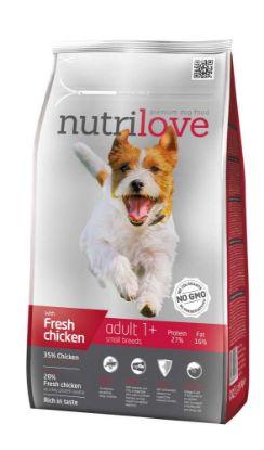 Obrázek Nutrilove pes granule ADULT Small fresh kuřecí 1,6kg-13196