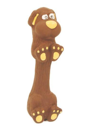 Obrázek z Latexová hračka s pískadlem - jezevčík malý 13 cm
