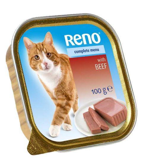Obrázek z RENO vanička CAT HOVĚZÍ+ZELENINA 100g-11742