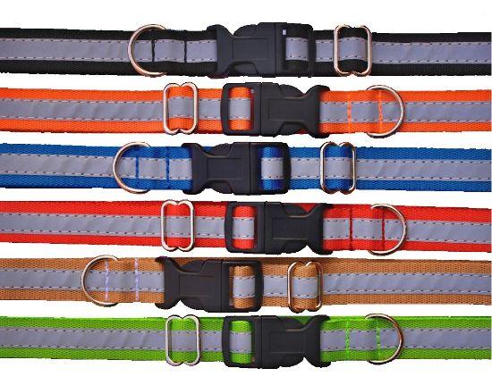 Obrázek z Obojek popruh barevný reflexní 20 x 32-55 cm