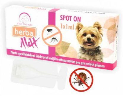 Obrázek Max Herba-SPOT ON MINI dog 1x1ml do 15kg- Fine dog-10684