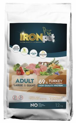 Obrázek IRONpet Dog Adult Large & Giant Turkey (Krůta) 12 kg