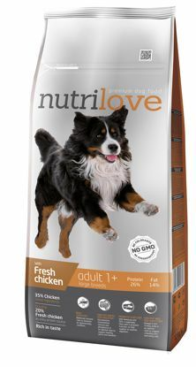 Obrázek Nutrilove pes Adult Large fresh kuřecí, granule 12 kg