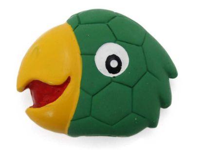 Obrázek Latexová hračka s pískadlem - papoušek,hlava 8x7x3cm