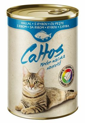 Obrázek Cattos Cat with Fish 415g-15382