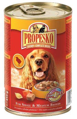 Obrázek PROPESKO DOG kousky 415g kuře+mrkev+těstoviny-9702