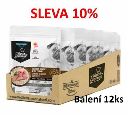 Obrázek Tapas Gourmet Snack for dog Chicken and Turkey 190g-12ks-AKCE 10%-14832