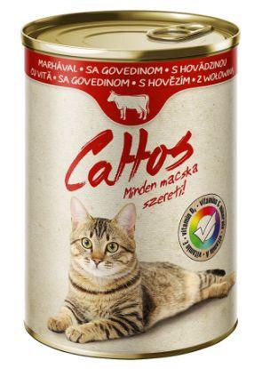Obrázek Cattos Cat hovězí, konzerva 415 g