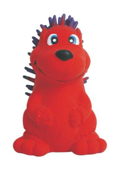 Obrázek z Latexová hračka s pískadlem - červený ježek 7,5 cm