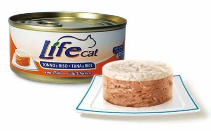 Obrázek Lifecat Tuna with rice with chicken 170g-30133