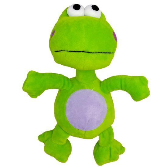 Obrázek z Hračka pes - plyšová žába pískací 20 cm