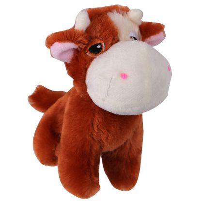 Obrázek Hračka pes - plyšová kráva pískací 14 cm