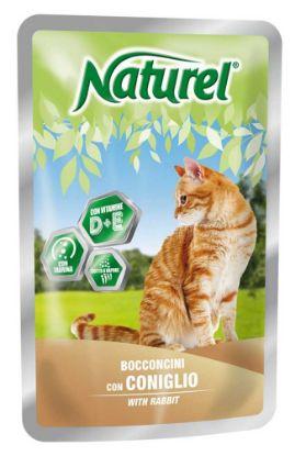 Obrázek Naturel cat pouches RABBIT 100g-033042
