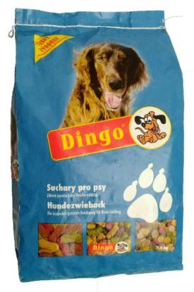 Obrázek DINGO suchary 2,5kg NEBAREVNÉ-1276