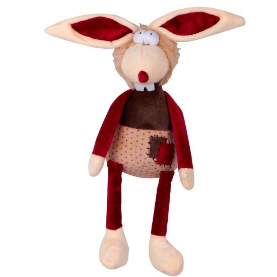 Obrázek z Hračka pes - plyšový králík pískací 30 cm