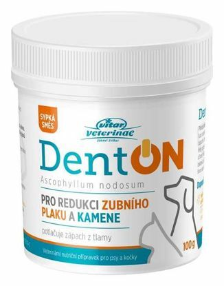 Obrázek Vitar veterinae DentON (De-Plague) 100g-redukce zubního kamene-14156