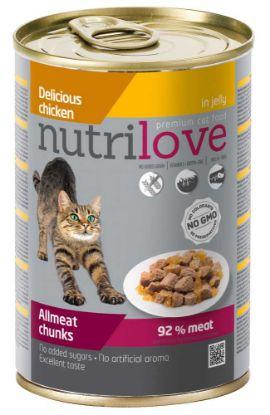 Obrázek Nutrilove kočka kuřecí kousky v želé, kapsička 400 g