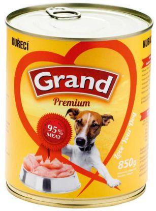 Obrázek Grand Premium Dog kuřecí 850 g