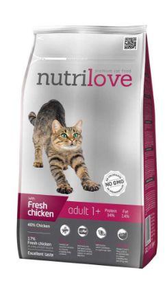 Obrázek Nutrilove kočka Adult fresh kuřecí, granule 1,5 kg
