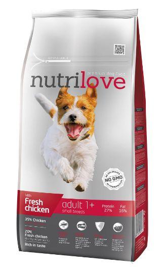 Obrázek z Nutrilove pes Adult Small fresh kuřecí, granule 8 kg