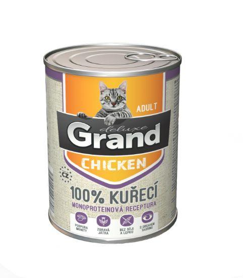 Obrázek z Grand deluxe 100% KUŘECÍ pro kočku 400g-15478