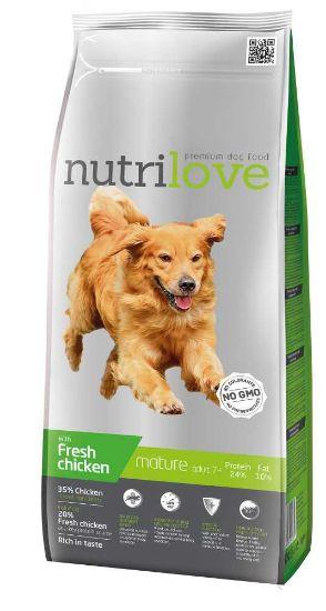 Obrázek z Nutrilove pes Mature fresh kuřecí, granule 3 kg