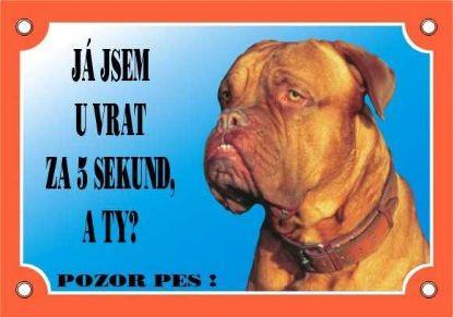Obrázek Cedulka Dafiko BORDEAUXSKÁ DOGA