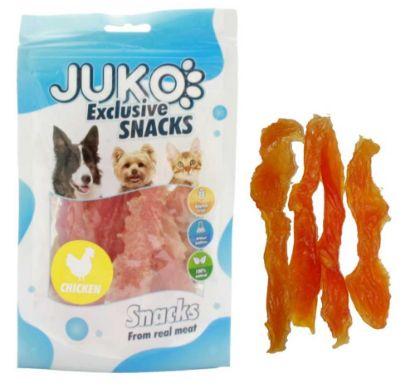 Obrázek JUKO SNACKS Chicken soft jerky made by hand 70 g