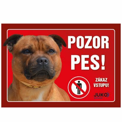 Obrázek cedulka PLAST - Staffordshire Bull Terrier -15414