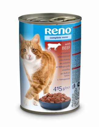 Obrázek RENO kousky CAT HOVĚZÍ 415g-10834
