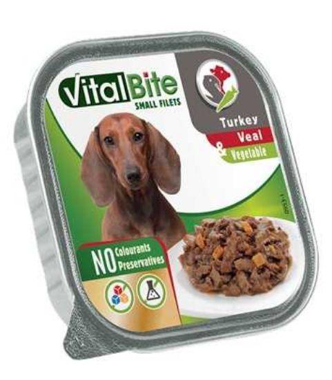 Obrázek z VitalBite masové ragou s telecím, krůtím a zeleninou, vanička 150 g