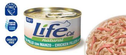 Obrázek Lifecat chicken with beef 85g-110129