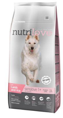 Obrázek Nutrilove pes Sensitive jehněčí a rýže, granule 12 kg