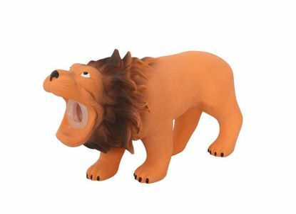 Obrázek Latexový lev s pískadlem 16x5,5x9 cm