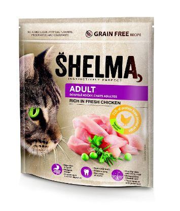 Obrázek SHELMA Cat Adult Freshmeat Chicken GF 750 g