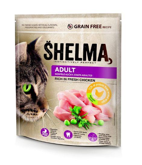 Obrázek z SHELMA Cat Adult Freshmeat Chicken GF 750 g