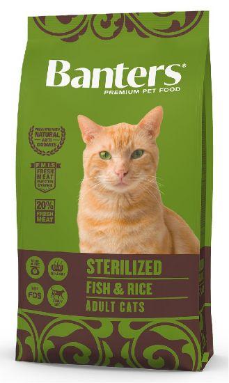 Obrázek z Banters Cat Adult Sterilized Fish with Rice 8 kg