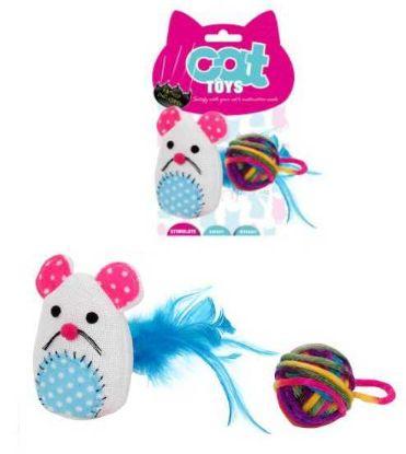 Obrázek Myš se šantou 9x17cm a balónek 5cm-92615YT-B