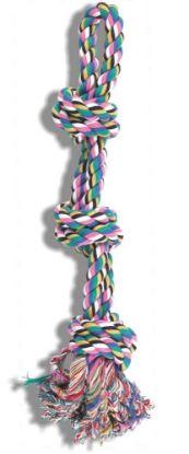 Obrázek Lano bavlna dvojita smyčka 61 cm