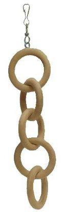 Obrázek Hračka pták - dřevěný řetěz, 5 ok