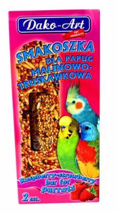 Obrázek Tyčinka s malinami a jahodami andulka Dako (2 ks)