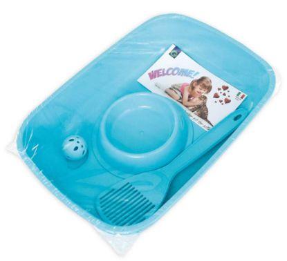 Obrázek Sada WC s doplňky-Welcome-BLUE-37x27x8,5h-80500