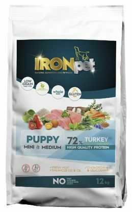 Obrázek IRONpet TURKEY Puppy Mini & Medium 12kg-14966