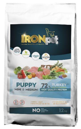 Obrázek z IRONpet TURKEY Puppy Mini & Medium 12kg-14966