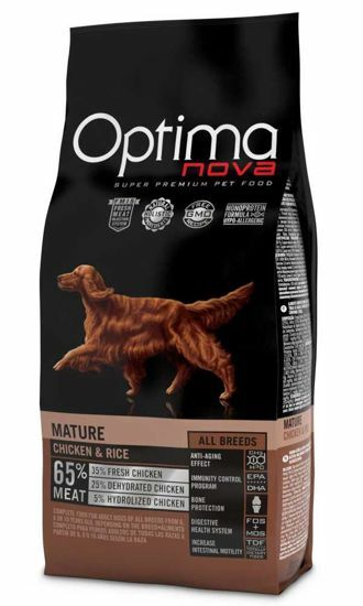Obrázek z OPTIMAnova Dog Mature Chicken & Rice 12 kg