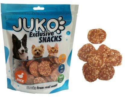 Obrázek JUKO SNACKS Duck and Rice chips 250 g