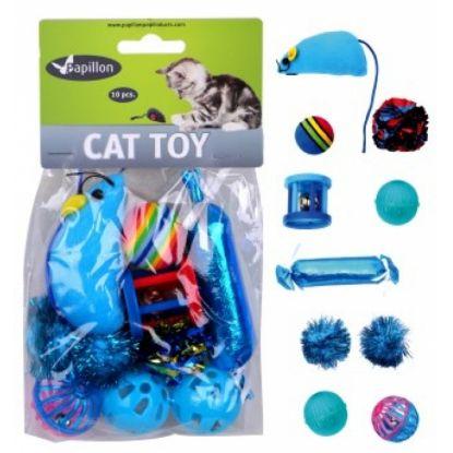Obrázek Hračka kočka - modrý mix (10 ks)