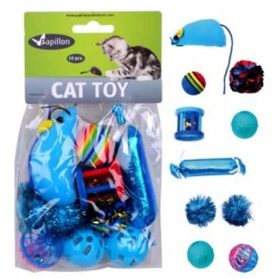 Obrázek z Hračka kočka - modrý mix (10 ks)