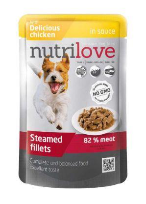 Obrázek Nutrilove pes kapsička, šťáva kuřecí 85g-13182
