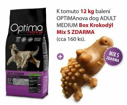 Obrázek OPTIMAnova dog ADULT MEDIUM  12kg+BOX Krokodylu-15672